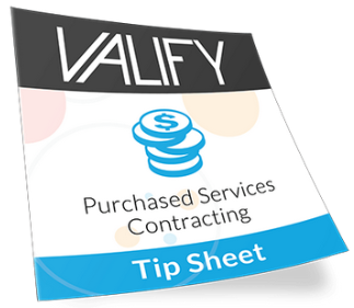 Valify Purchased Services Contracting Tip Sheet